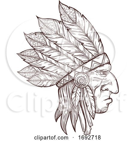 Sketched Native American by Vector Tradition SM