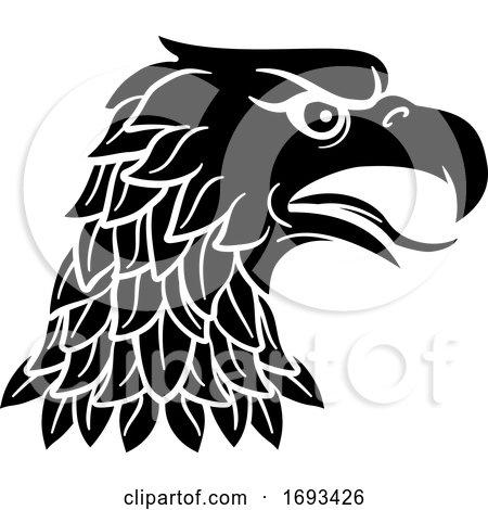 Eagle Head Imperial Heraldic Symbol by AtStockIllustration