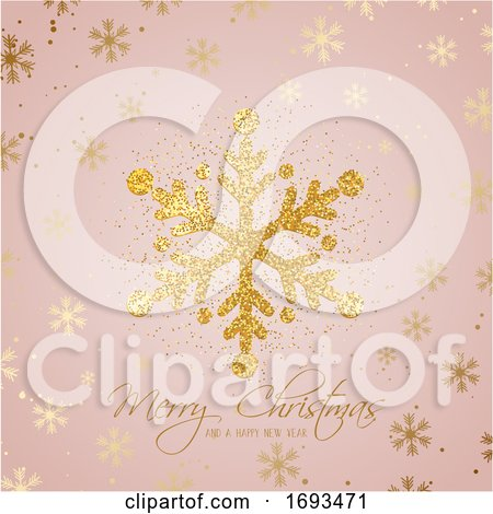 Glitter Christmas Snowflake Background by KJ Pargeter