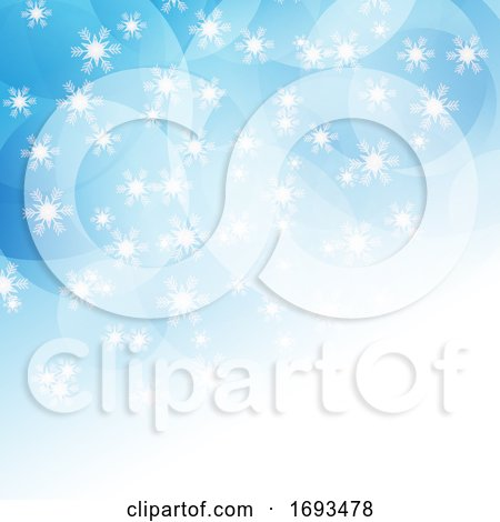 Christmas Snowflakes Background by KJ Pargeter