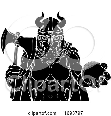 Viking Female Gladiator Cricket Warrior Woman by AtStockIllustration