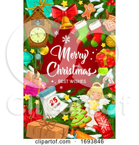 Christmas Tree Decorations, Snowflakes and Toys Posters, Art Prints