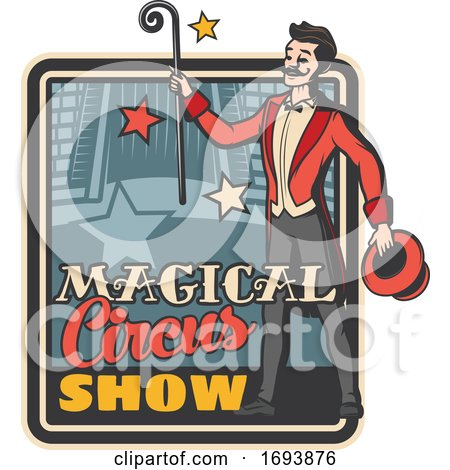 Circus Ringmaster or Magician by Vector Tradition SM