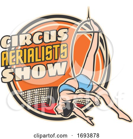 Circus Aerialist by Vector Tradition SM