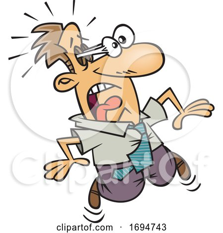Cartoon Shocked Business Man with Eyes Popping out of His Head by toonaday