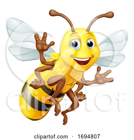 Honey Bumble Bee Bumblebee Cartoon Character by AtStockIllustration