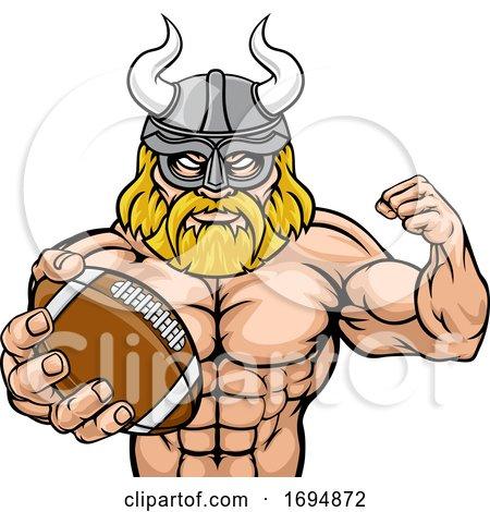 Viking American Football Sports Mascot by AtStockIllustration