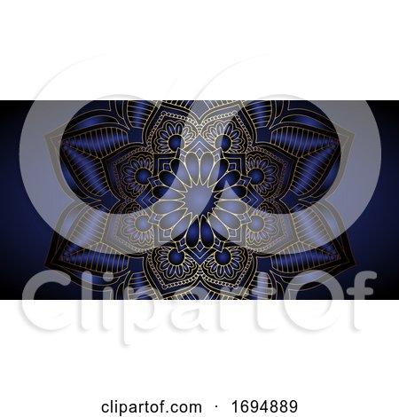 Decorative Mandala Banner Design by KJ Pargeter