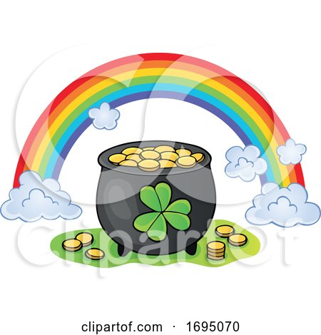 Leprechauns Pot of Gold and Rainbow by visekart