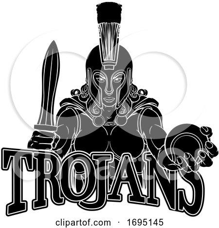 Spartan Trojan Gladiator Tennis Warrior Woman by AtStockIllustration