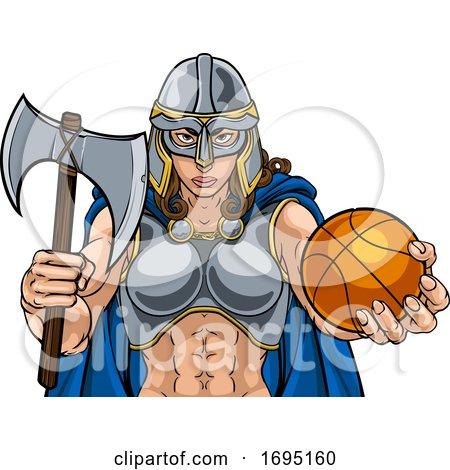 Viking Celtic Knight Basketball Warrior Woman by AtStockIllustration