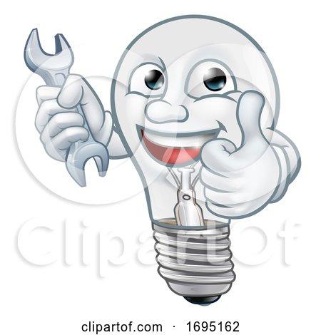 Light Bulb Cartoon Character Lightbulb Mascot Posters, Art Prints