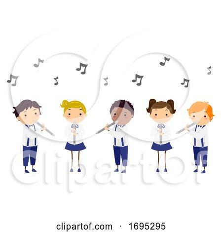 Stickman Kids Performance Flute Illustration by BNP Design Studio