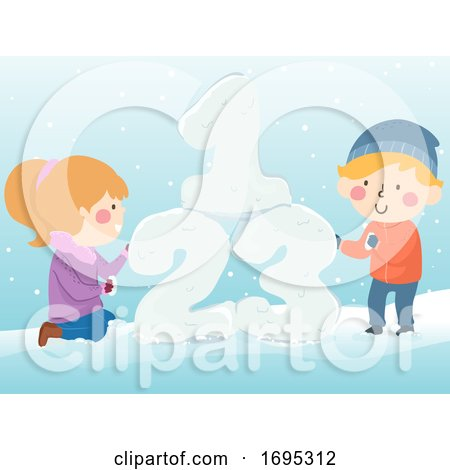 Kids 123 Building Snow Illustration by BNP Design Studio