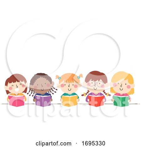 Kids Girls Book Illustration by BNP Design Studio
