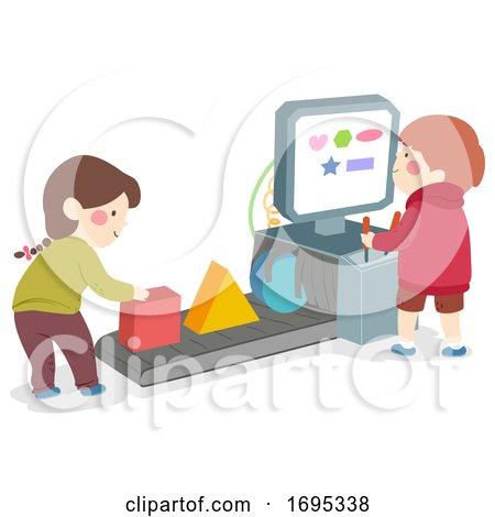 Kids Shape Machine Illustration by BNP Design Studio