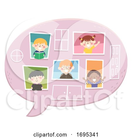 Kids Speech Bubble Windows Illustration by BNP Design Studio