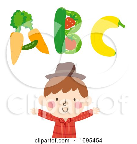 Kid Boy Farmer Illustration by BNP Design Studio