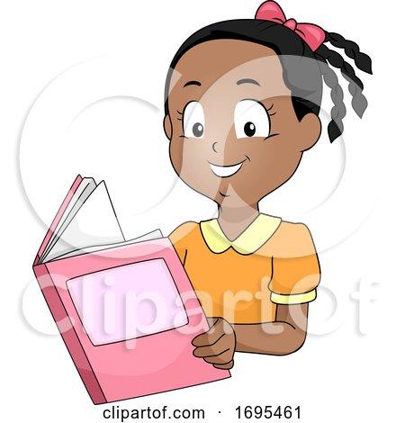 Kid Girl African Book Illustration by BNP Design Studio