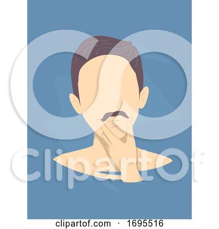 Man Mustache Illustration by BNP Design Studio