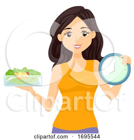 Teen Girl Food Clock Intermittent Fasting by BNP Design ...