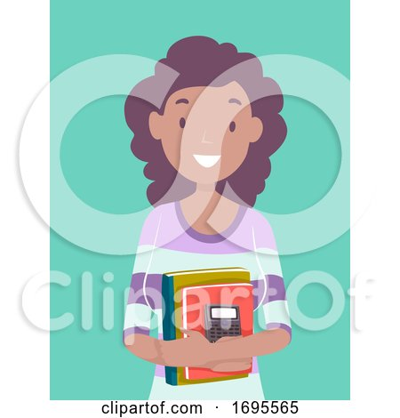 Teen Girl Black Accounting Student Illustration by BNP ...