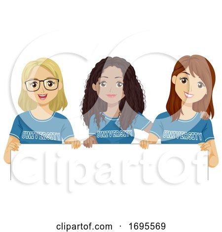 Teen Girls University Shirt Board Illustration by BNP ...