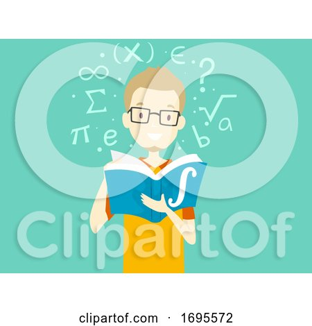 Teen Guy Calculus Book Study Illustration by BNP Design ...