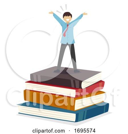 Teen Guy Student Success Books Illustration by BNP Design ...