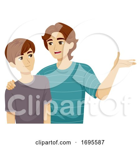 Teen Boy Adolescence Brother Advice Illustration by BNP ...