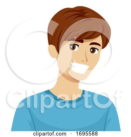 Teen Boy Healthy Teeth Illustration by BNP Design Studio