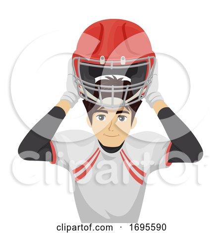 Teen Boy Wear Safety Sport Equipment Illustration by BNP ...