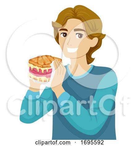 Teen Guy American Food Reuben Sandwich by BNP Design Studio