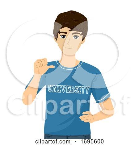 Teen Guy University Shirt Illustration by BNP Design ...