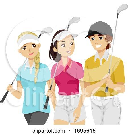 Teens Sports Club Golf Illustration by BNP Design Studio ...
