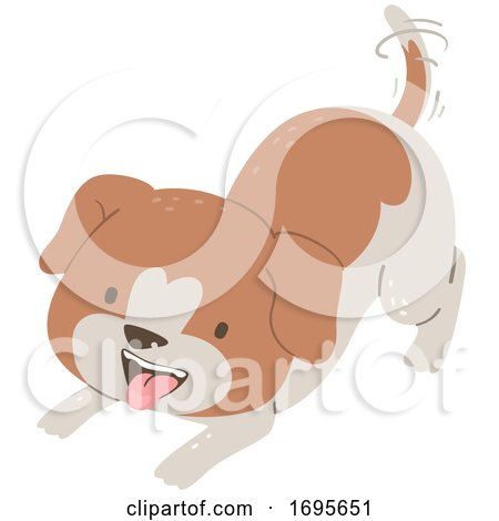 Dog Want Play Illustration Posters, Art Prints