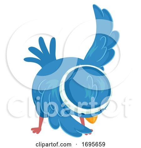 Bird Exercise Cross Body Toe Touch Illustration by BNP Design Studio