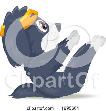 Dog Exercise V Ups Illustration by BNP Design Studio