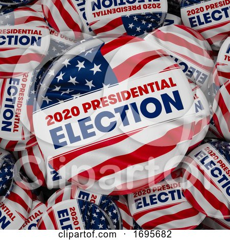 2020 Presidential Election Buttons by stockillustrations