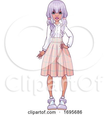 Teen Girl in a Skirt by Pushkin #1695686