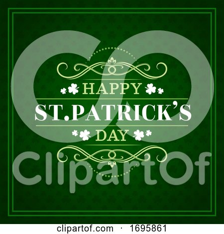 Happy St Patricks Day Greeting by Vector Tradition SM