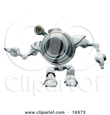Friendly Robotic Webcam Waving or Dancing Posters, Art Prints