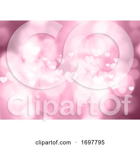 Pink Bokeh Hearts Valentine's Day Background Posters, Art Prints