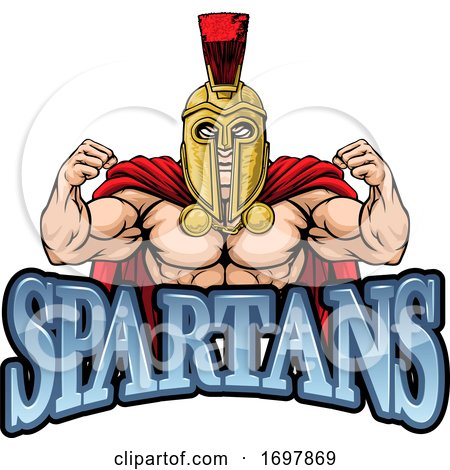 Spartan Trojan Sports Mascot by AtStockIllustration