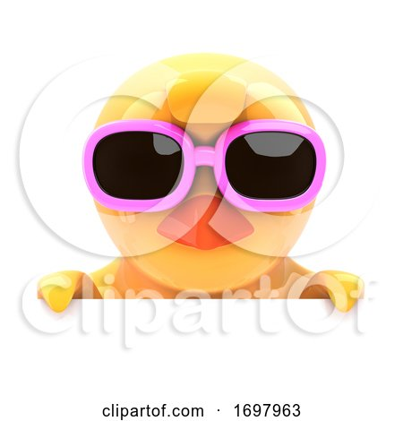 Chick in Sunglasses Looks over the Top Posters, Art Prints