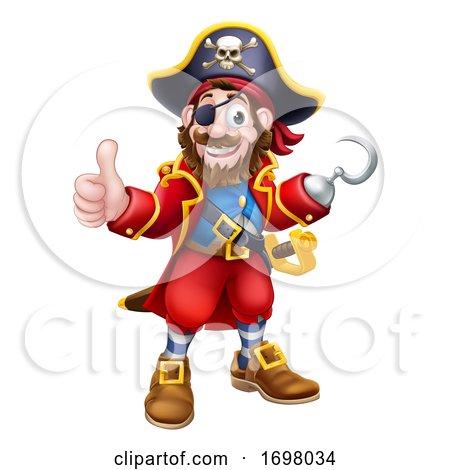 Pirate Captain Cartoon Character Mascot by AtStockIllustration