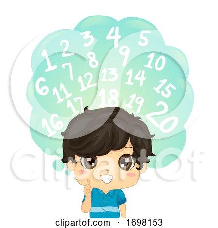 Kid Boy Identify Number One to Twenty Illustration by BNP Design Studio