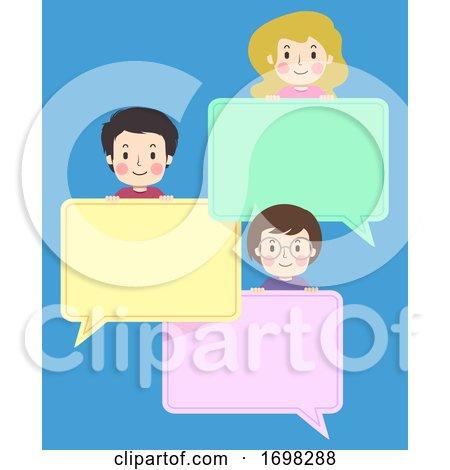 Teens Group Speech Bubbles Illustration by BNP Design Studio