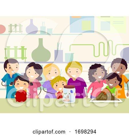 Stickman Family Science School Activity by BNP Design Studio