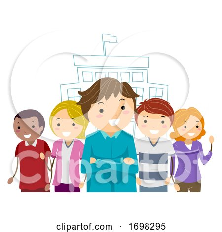 Stickman Parents School Leadership Illustration by BNP Design Studio